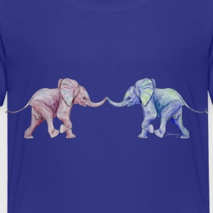 Two elephants - trunk to trunk (rose,blue) Shirts - Kids' Premium T-Shirt