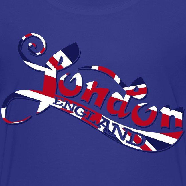 London England Samtaufdruck