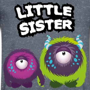 Little Sister Monster T-skjorter - T-skjorte med V-utsnitt for menn