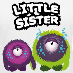 Little Sister Monster T-shirts - Vrouwen T-shirt met V-hals