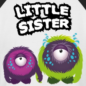 Little Sister Monster T-Shirts - Männer Baseball-T-Shirt