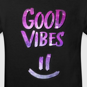 Good Vibes! Funny Smiley Statement / Happy Face Shirts - Kinderen Bio-T-shirt