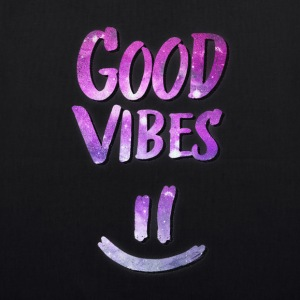 Good Vibes! Funny Smiley Statement / Happy Face Tassen & rugzakken - Bio stoffen tas