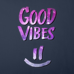 Good Vibes! Funny Smiley Statement / Happy Face Altro - Copricuscino per divano, 44 x 44 cm