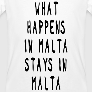 what happens in malta stays in malta  T-Shirts - Männer Bio-T-Shirt