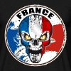 france skull Tee shirts - T-shirt Homme
