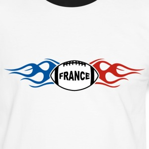 France sport rugby flaming Tee shirts - T-shirt contraste Homme
