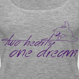 2 hearts 1 dream slider Tops - Vrouwen Premium tank top