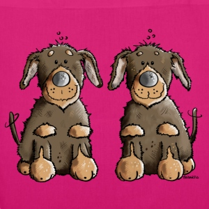 Two Dachshunds Bags & Backpacks - EarthPositive Tote Bag