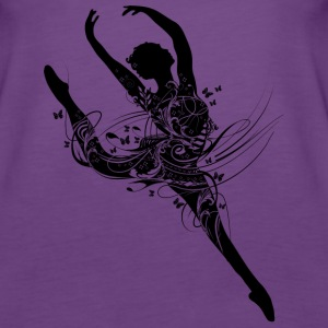 Ballet dancer in fanciful ballet dress Tops - Women's Premium Tank Top