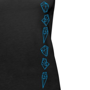 Crytal Triangles Diamonds Tops - Frauen Premium Tank Top