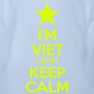 I'm Viet I Can't Keep Calm Shirts - Organic Short-sleeved Baby Bodysuit