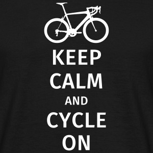 keep calm and cycle on T-Shirts - Männer T-Shirt