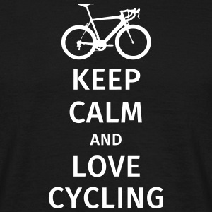 keep calm and love cycling T-shirts - Herre-T-shirt