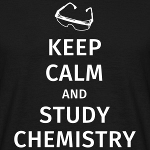 keep calm and study chemistry T-shirts - Herre-T-shirt