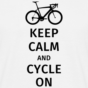 keep calm and cycle on T-shirts - Herre-T-shirt