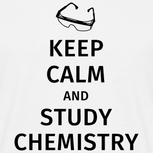 keep calm and study chemistry T-skjorter - T-skjorte for menn