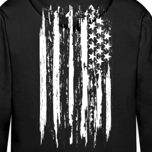 usa flag grunge style Sweat-shirts - Sweat-shirt à capuche Premium pour hommes