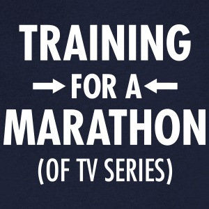 Training For A Marathon (Of TV Series) T-shirts - Mannen T-shirt met V-hals