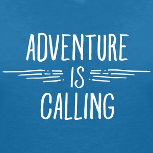 Adventure Is Calling T-Shirts - Women's V-Neck T-Shirt