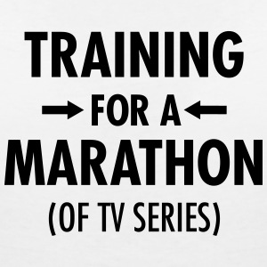 Training For A Marathon (Of TV Series) T-shirts - Vrouwen T-shirt met V-hals