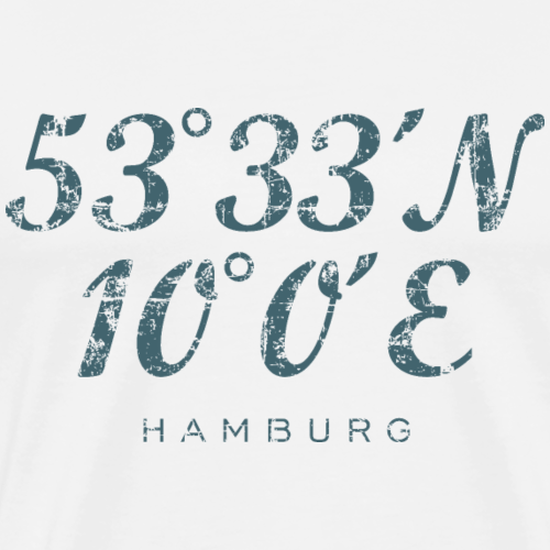 Hamburg Koordinaten Vintage Dunkel