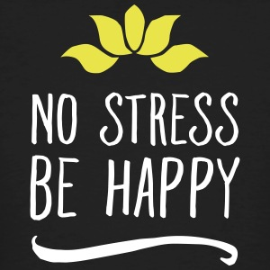 No Stress - Be Happy T-shirts - Mannen Bio-T-shirt