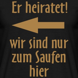 Er heiratet links, original RAHMENLOS® Design T-Shirts - Männer T-Shirt