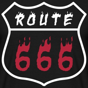 Route 666 - Mannen T-shirt