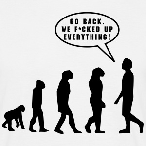 Evolution, f*cked up - Männer T-Shirt