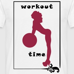 Workout Girl / Time - Männer T-Shirt
