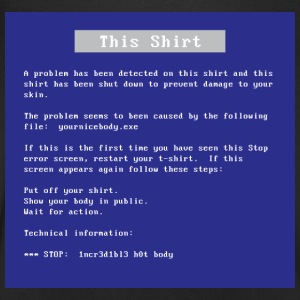 Blue screen shirt - Mannen T-shirt met V-hals