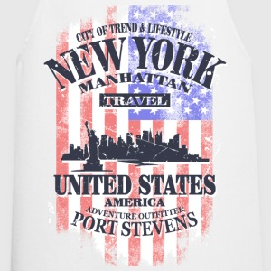 New York - USA Flag - Vintage Look  Aprons - Cooking Apron