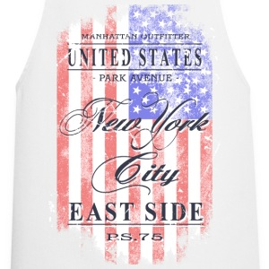New York City - USA Flag - Vintage Look  Aprons - Cooking Apron