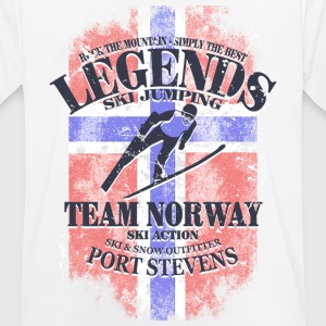 Ski Jumping  - Norway Flag T-Shirts - Men's Breathable T-Shirt