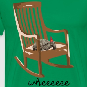 turtle on rocking chair T-Shirts - Men's Premium T-Shirt