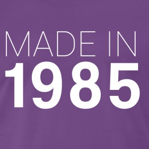Lila Made in 1985 T-Shirts - Männer Premium T-Shirt