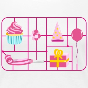 Weiß birthday_kit_girl T-Shirts - Frauen Premium T-Shirt