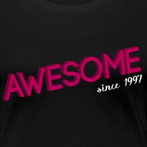 Schwarz awesome_since_1997 pink T-Shirts - Frauen Premium T-Shirt