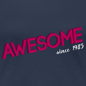 Navy Awesome_since_1985 pink T-Shirts - Frauen Premium T-Shirt