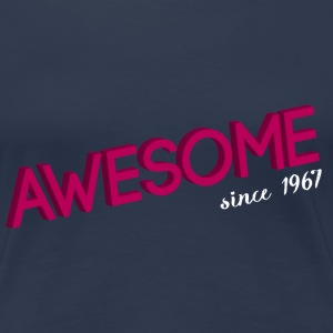 awesome_since_1965 pink T-Shirts - Vrouwen Premium T-shirt