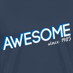 Bleu marine Awesome_since_1985 blue Tee shirts - T-shirt Premium Homme