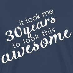 Navy Awesome_30 T-Shirts