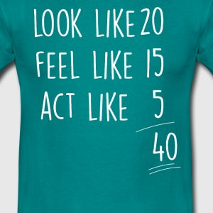 act_look_feel_40 T-Shirts - T-shirt herr