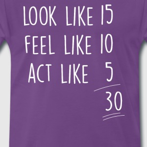 Lila act_look_feel_30 T-Shirts - Männer Premium T-Shirt