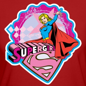 Supergirl Pattern, Superhelden T-Shirt - Frauen Bio-T-Shirt