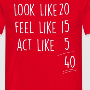 Rot act_look_feel_40 T-Shirts - Männer T-Shirt