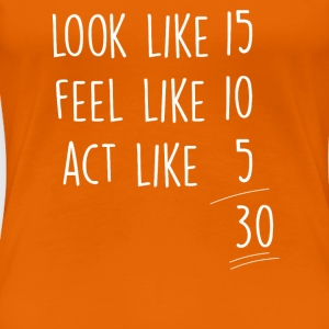 Orange act_look_feel_30 T-Shirts - Frauen Premium T-Shirt