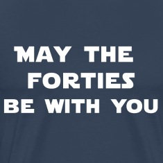 Navy may the 40th be with you T-Shirts