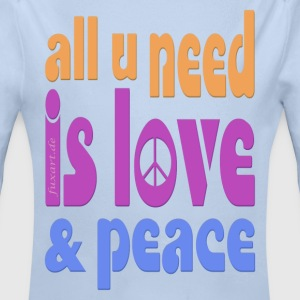 love and peace Baby Bodys - Baby Bio-Langarm-Body